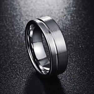 New 8MM Stainless Steel Men's Wedding Band Ring